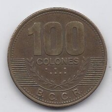 KOSTA RIKA 100 COLONES 2007 KM # 240a VF