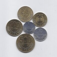 KOSTA RIKA 2007 - 2012 m. 6 monetų rinkinys