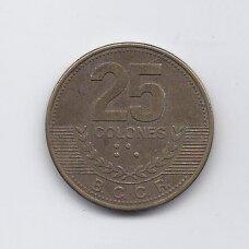 KOSTA RIKA 25 COLONES 2007 KM # 229c VF