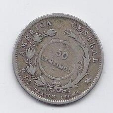 KOSTA RIKA 50 CENTIMOS 1923 KM # 159 VF