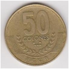 KOSTA RIKA 50 COLONES 1999 KM # 231.1 VF