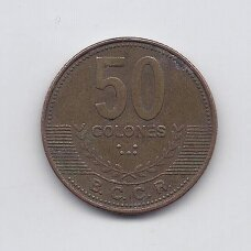 KOSTA RIKA 50 COLONES 2006 KM # 231.1b VF