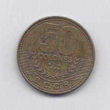 KOSTA RIKA 50 COLONES 2012 KM # 231.1b VF