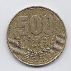 KOSTA RIKA 500 COLONES 2005 KM # 239 VF