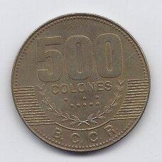 KOSTA RIKA 500 COLONES 2007 KM # 239.1a VF