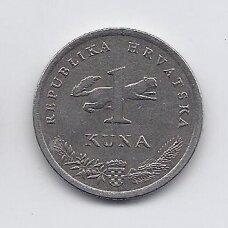 KROATIJA 1 KUNA 1993 KM # 9.1 VF