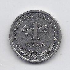 KROATIJA 1 KUNA 1995 KM # 9.1 VF