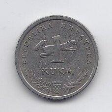 KROATIJA 1 KUNA 1996 KM # 20 VF