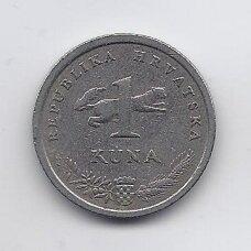 KROATIJA 1 KUNA 1997 KM # 9.1 VF