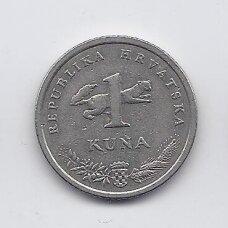 KROATIJA 1 KUNA 1999 KM # 9.2 VF