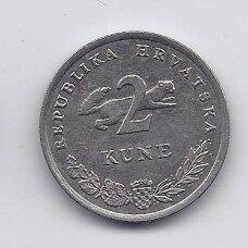 KROATIJA 2 KUNA 1993 KM # 10 VF