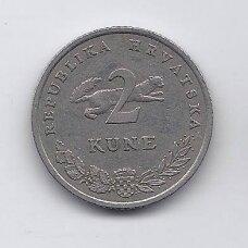 KROATIJA 2 KUNA 1994 KM # 21 VF