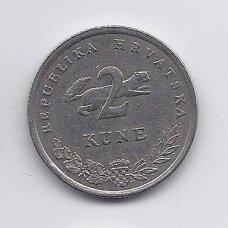 KROATIJA 2 KUNA 1999 KM # 10 XF