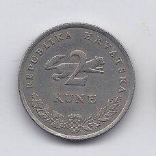 KROATIJA 2 KUNA 2007 KM # 10 XF