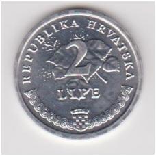 KROATIJA 2 LIPE 1993 KM # 4 UNC