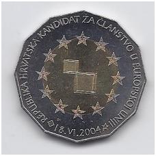 KROATIJA 25 KUNA 2004 KM # 78 AU EU PRETENDENTAI