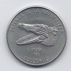 KUBA 1 PESO 1985 KM # 124 AU Krokodilas