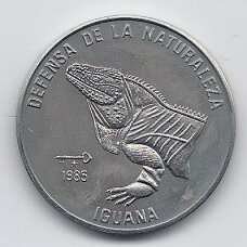 KUBA 1 PESO 1985 KM # 126 AU Iguana