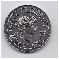 KUBA 1 PESO 1987 KM # 165 UNC