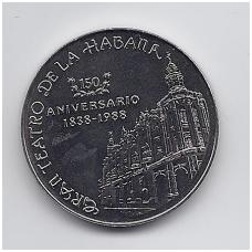 KUBA 1 PESO 1988 KM # 277 UNC