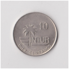 KUBA 10 CENTAVOS 1981 KM # 415.1 VF