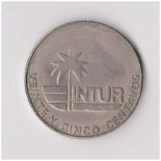 KUBA 25 CENTAVOS 1981 KM # 417 VF