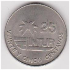 KUBA 25 CENTAVOS 1981 KM # 418.1 VF