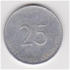 KUBA 25 CENTAVOS 1988 KM # 419 VF