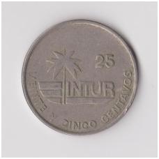 KUBA 25 CENTAVOS 1989 KM # 418.2 VF
