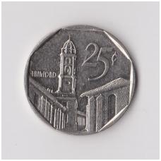 KUBA 25 CENTAVOS 1994 KM # 577.1 VF-XF