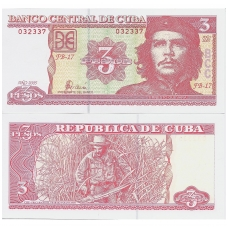 KUBA 3 PESOS 2005 P # 123 UNC