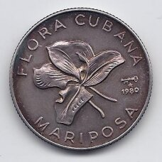 KUBA 5 PESOS 1980 KM # 49 XF