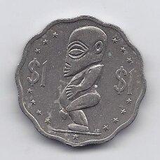 KUKO SALOS 1 DOLLAR 1988 KM # 37 VF