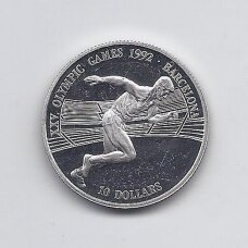 KUKO SALOS 10 DOLLARS 1990 KM # 79 PROOF Olimpiada