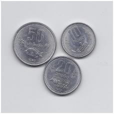 LAOSAS 1980 m. trijų monetų komplektas