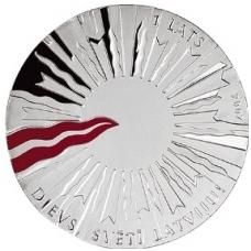 LATVIA 1 LATS 2007 KM # 88 PROOF
