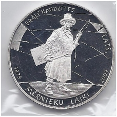 LATVIJA 1 LATS 2009 KM# 102 PROOF Žemės matininkų laikai