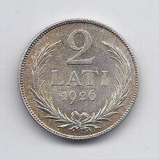 LATVIJA 2 LATI 1926 KM # 8 AU