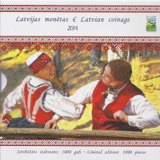 LATVIJA 2014 m. EURO MONETŲ TURIZMO CENTRO RINKINYS