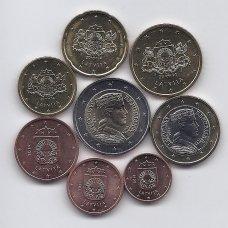 LATVIJA 2014 m. pilnas euro monetų rinkinys