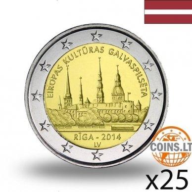 LATVIJA 2 EURAI 2014 RYGA RITINĖLIS (25 vnt.)