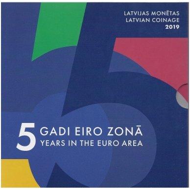 LATVIJA 2019 m. OFICIALUS BANKINIS EURO MONETŲ RINKINYS