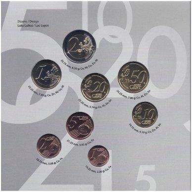 LATVIJA 2019 m. OFICIALUS BANKINIS EURO MONETŲ RINKINYS 2