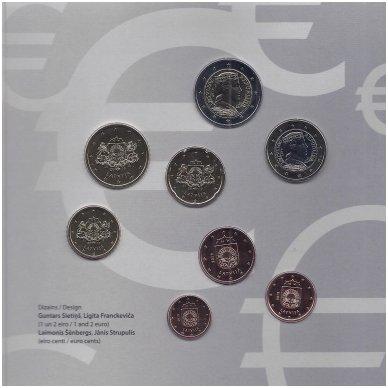 LATVIJA 2019 m. OFICIALUS BANKINIS EURO MONETŲ RINKINYS 3