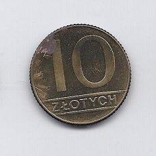 LENKIJA 10 ZLOTYCH 1990 Y # 152.2 F