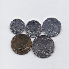 LENKIJA 1990 m. 5 monetų rinkinys