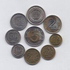 LENKIJA 1992 - 2004 m. 9 monetų rinkinys