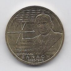 LENKIJA 2 ZLOTAI 2012 Y # 817 AU Stefanas Banachas