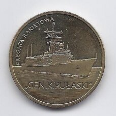 LENKIJA 2 ZLOTAI 2013 Y # 866 AU Fregata Gen. K. Pulaski
