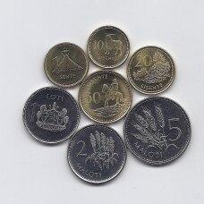 LESOTAS 1992 - 2016 m. 7 monetų rinkinys
